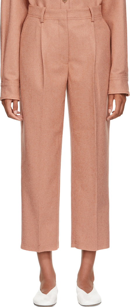 Acne Studios Pink Wool & Cashmere Flannel Trousers