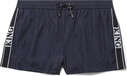Dolce & Gabbana Short-Length Webbing-Trimmed Swim Shorts