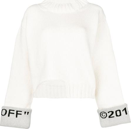 Off White Logo cuff jumper