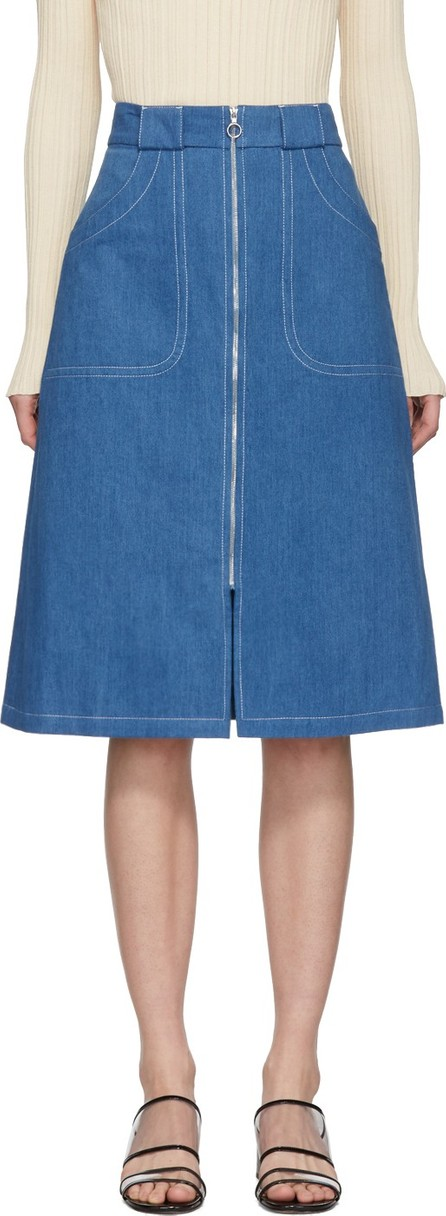 A.P.C. Blue Denim Celeste Skirt
