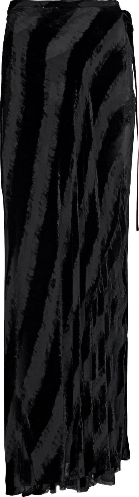 Ann Demeulemeester Devoré-velvet and chiffon maxi skirt