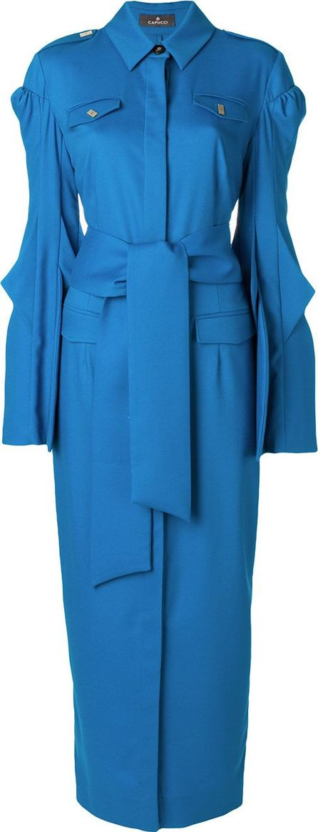 Capucci belted wrap dress