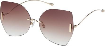 For Art's Sake Rimless Butterfly Sunglasses