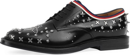 Gucci Beyond Leather Lace-Up Shoe with Studs, Black