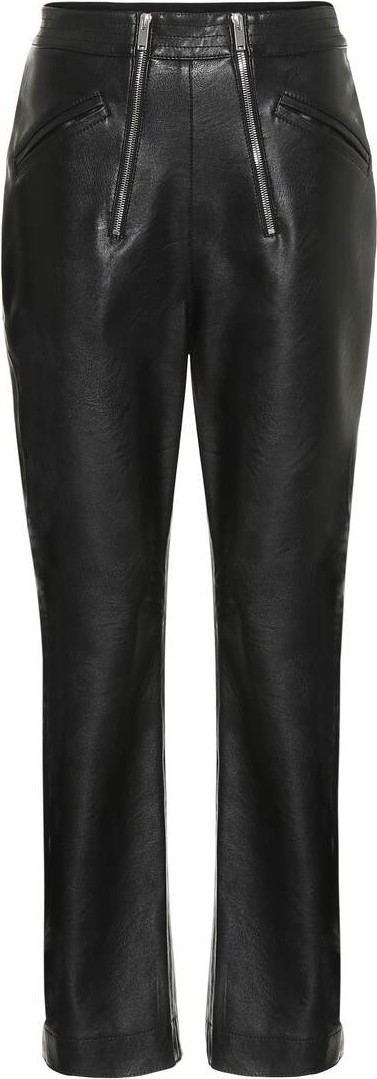 Stella McCartney High-rise faux leather pants