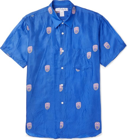 Comme Des Garcons Embroidered Voile Shirt