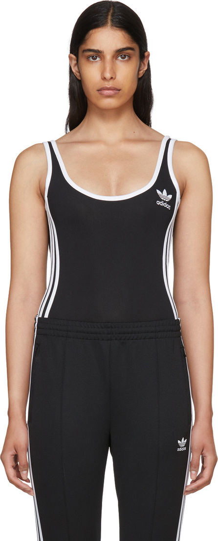 Adidas Originals Black 3-Stripes Bodysuit