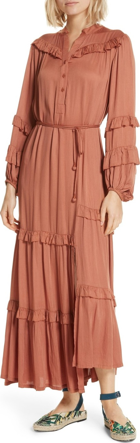 APIECE APART Gracia Flamenca Maxi Dress