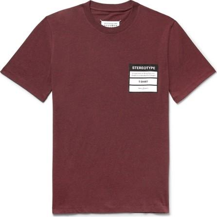 Maison Margiela Logo-Appliquéd Mélange Cotton-Jersey T-Shirt