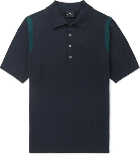 Ps By Paul Smith Knitted Cotton Polo Shirt