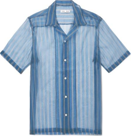 Cmmn Swdn Duncan Camp-Collar Striped Silk-Organza Shirt