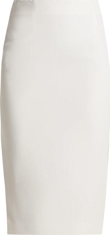 Alexander McQueen High-waist crepe pencil skirt