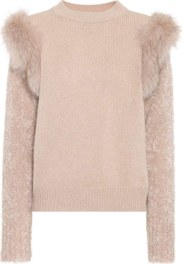 Agnona - Fur-trimmed sweater