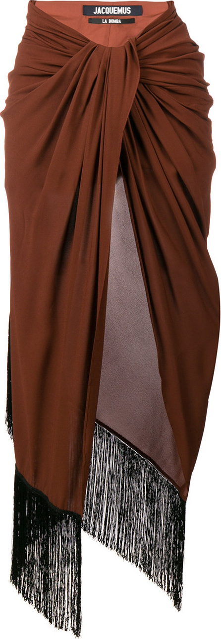 Jacquemus Asymmetric wrap front skirt