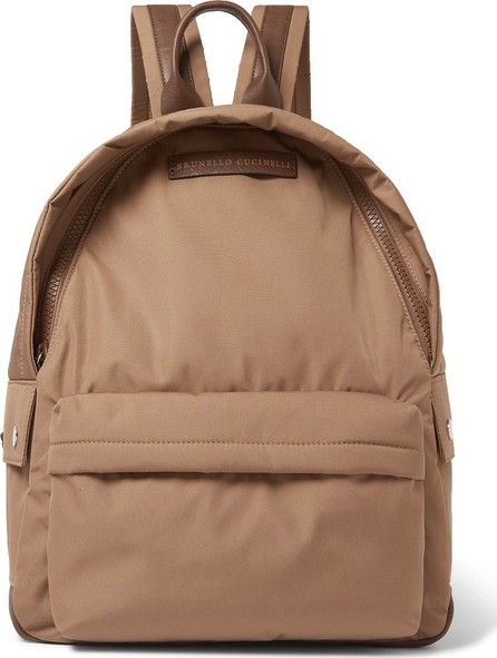 Brunello Cucinelli Leather-Trimmed Nylon Backpack