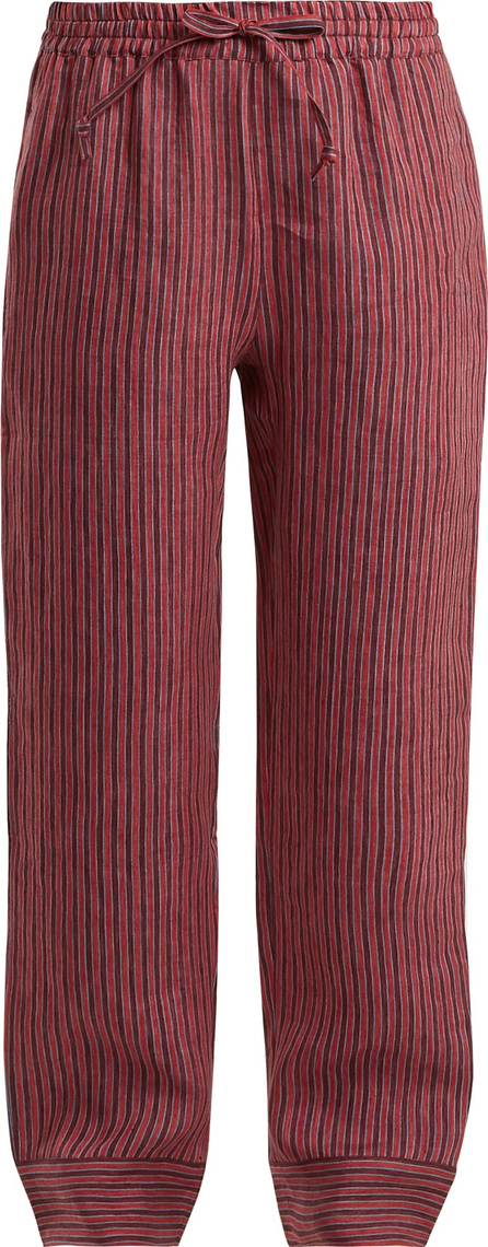 Acne Studios Maseline Sketch striped linen-blend trousers