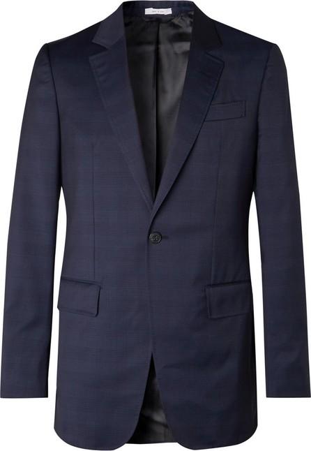 Gabriela Hearst Navy Kipling Slim-Fit Checked Wool Suit Jacket