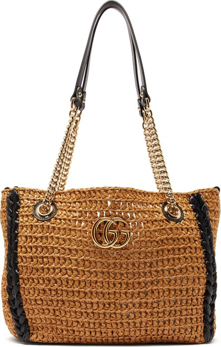 Gucci GG Marmont woven shoulder bag