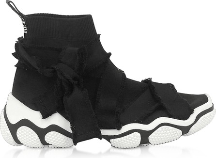 RED Valentino Black & White Mesh Sock Sneakers