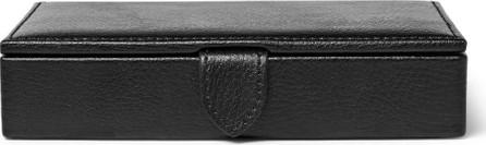 WOLF Blake Full-Grain Leather Cufflink Case