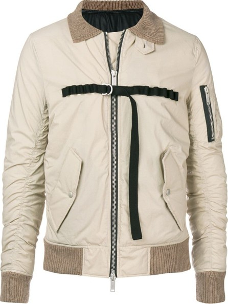 Ben Taverniti Unravel Project Ribbed collar jacket