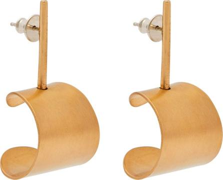 Fay Andrada Tappi small brass drop earrings