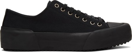 Jil Sander Black Canvas Sneakers