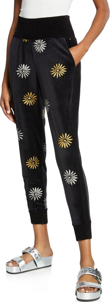 Splendid x Margherita Velour Daisy Jogger Pants