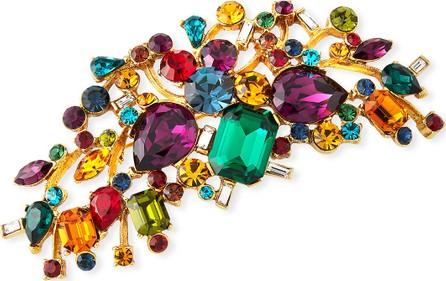 Jose & Maria Barrera Large Multicolor Crystal Brooch