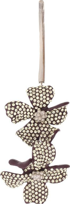 Acne Studios Embellished flower single earring