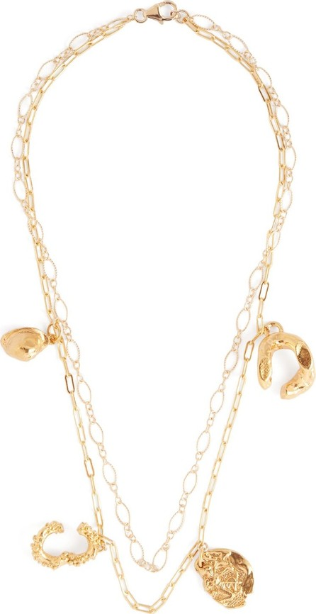 Alighieri Multi-charm 24kt gold-plated necklace