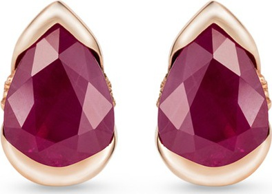 Fernando Jorge 'Bloom' diamond ruby 18k rose gold small stud earrings