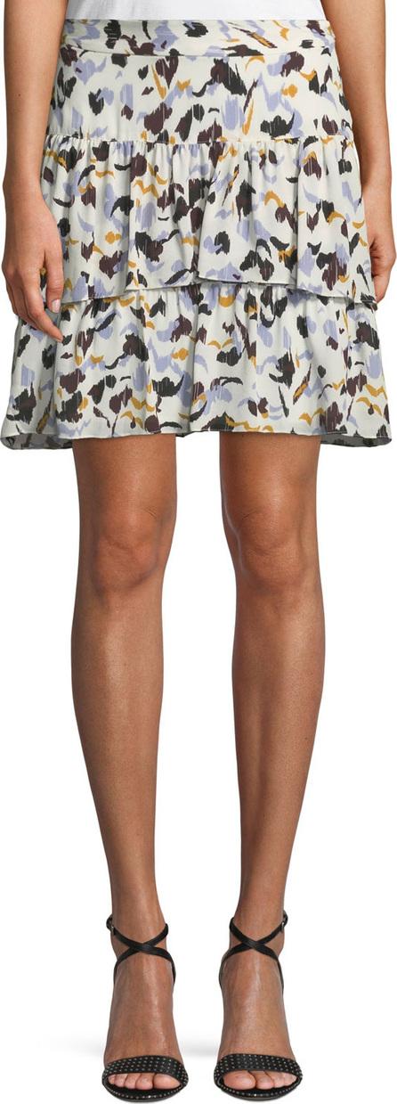 A.L.C. Baxter Printed Tiered Silk Skirt