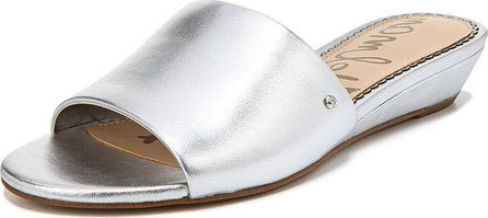 Sam Edelman Liliana Metallic Leather Demi-Wedge Slide Sandal