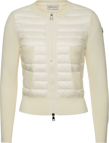 Moncler Virgin Wool Jacket with Down Filling