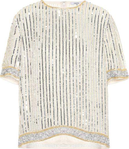 Ganni Temple sequin-embellished top