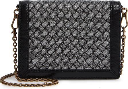 Bottega Veneta Textile, Lambskin Leather & Genuine Snakeskin Wallet on a Chain