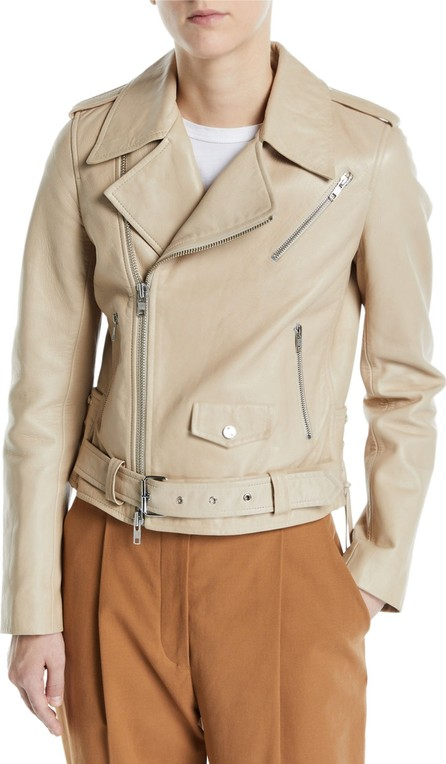 A.L.C. Dree Zip-Front Leather Moto Jacket