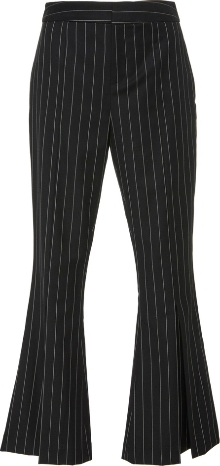 FRAME DENIM Pinstriped Wool-Blend Cropped Pants