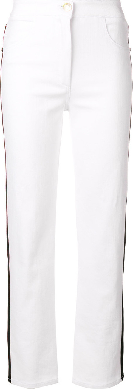 Balmain Side-striped straight jeans