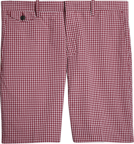 Burberry London England Gingham Cotton Tailored Shorts