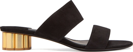 Belluno column-heel suede sandals