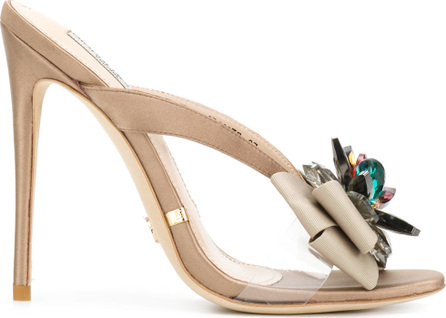 Gianni Renzi Floral appliqué open-toe sandals