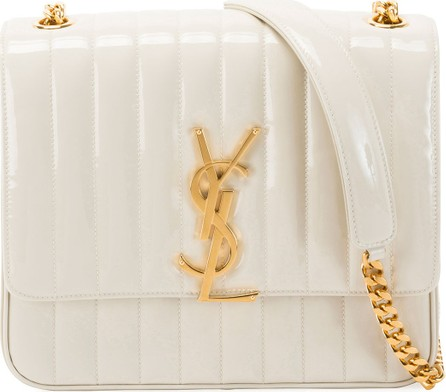 Saint Laurent Vicky Monogram YSL Large Quilted Patent Chain Crossbody Bag