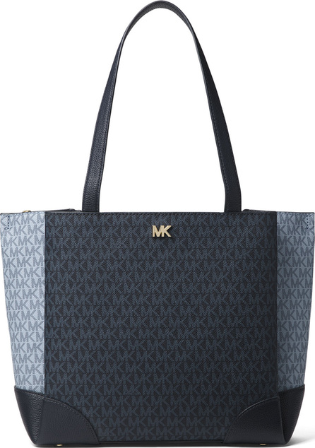 Gala Medium Colorblock Logo Shoulder Tote Bag