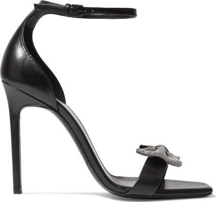 Saint Laurent Amber bow-embellished leather sandals
