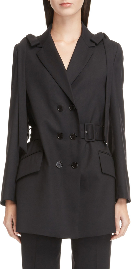 Simone Rocha Bow Shoulder Stretch Wool Jacket