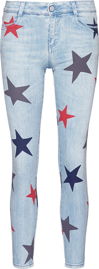 Stella McCartney Star print cropped skinny jeans