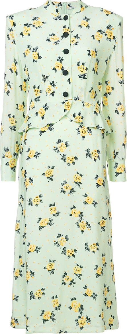 Alessandra Rich Floral shirt dress