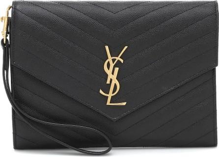 Saint Laurent Monogram leather clutch